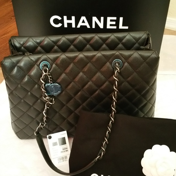 b05452d6900e CHANEL Bags | City Shopping Tote Quilted Caviar Large | Poshmark
